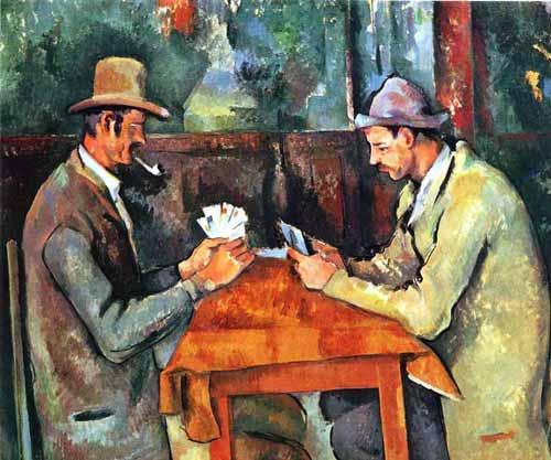 Los jugadores de cartas. Cézanne
