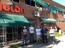 Trabajadores de Gotan salen a la calle a difundir su lucha