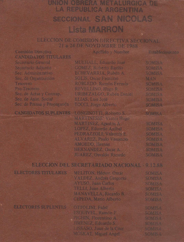 Lista UOM San Nicolás