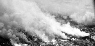 Vista aérea de la zona noreste de Washington, D.C. el 5 de abril de 1968. Foto: AP.