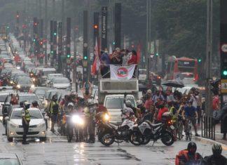 Caravana por el Fuera Bolsonaro pasando por la Paulista, 23/01/2021.