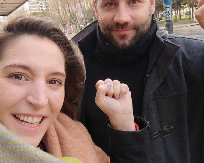 Manuela Castañeira y Marcos Pascuán
