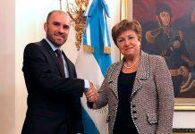 Kristalina Georgieva y Martín Guzmán