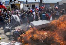 iquique chile - marcha xenofobica
