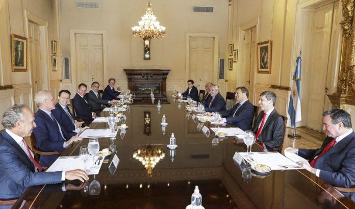 gobierno y empresarios en casa rosada